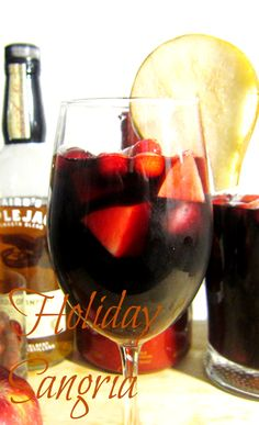 Holiday Sangria. Sangria is my fav! Us cousins think alike when it comes to wine!! @Abigail Carrillo
