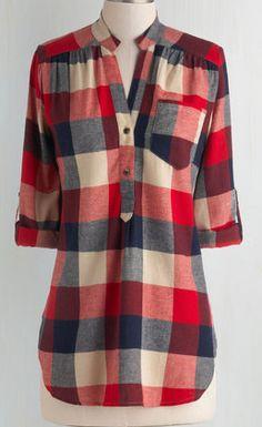 Cute plaid tunic