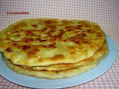 Tiganopsomo flat bread translated on site Greek Sweets, Greek Desserts, Greek Recipes, Greek Bread, Eat Greek, Greek Cooking, Island Food, International Recipes, Food Processor Recipes