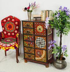 handbemalte Massiv Holz orientalische Kommode Schrank cabinet cupboard -MGL2 | eBay                                                                                                                                                                                 Mehr