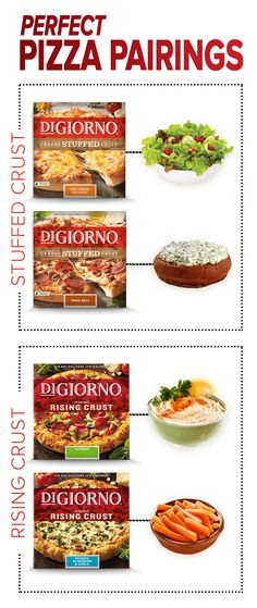 Oven fresh DIGIORNO Pizza is delicious enough to stand on its own, no doubt. But what if hunger strikes in the 3rd quarter? Look no further than our go-to gameday pairings fit for a quarterback or your gameday party. From Pepperoni Cheese Stuffed Crust pairing well with Spinach Dip to Supreme perfectly complimenting a crisp Romaine salad, we have your must-snag snacks just in time for kickoff.