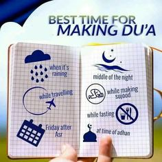 Best time for making du'a: