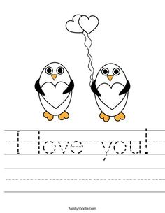 I love you Worksheet - Twisty Noodle Letter B Coloring Pages, Valentines Day Coloring Page, Valentine Day Love, Sensory Activities Toddlers, Infant Activities, Fun Crafts For Kids, Kid Crafts, Toddler Learning, Teaching Kids