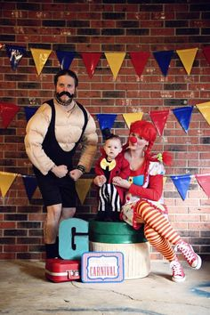 Family circus costume  #ringleader #clown #worldsstrongestman