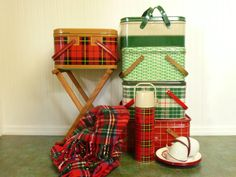 Vintage Red Plaid Thermos Thermos Brand by NewLifeVintageRVs
