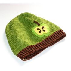 Green apple baby hat unisex hat knit toddler hat Size by Tuttolv, $20.00