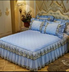 White blue mattress room set, Gatlin storage platform mattress room assortment, created for M Bedroom Colors, Home Decor Bedroom, Bed Cover Design, Designer Bed Sheets, Curtain Designs, Fabric Sofa, Bed Covers, Bed Spreads, Bedding Sets
