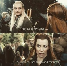Really cute but I don't ship them. Sorry to all the Legolas and Tauriel shippers. I DID ship them at first but then I realized that I'd rather be dating Legolas and I realized Tauriel and Kili are a really cute couple.