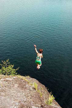 Douglas Lake cliff jumping by FRESH!Carlson, via Flickr