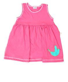 Take a look at this Pink Blue Bird Olivia Dress - Toddler & Girls by rock me! on #zulily today!