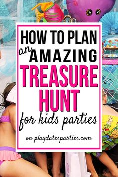 Fun kids party games - How to Plan the Best Treasure Hunt for Kids – Fun kids party games Birthday Party At Home, Birthday Party Games For Kids, Backyard Birthday, Birthday Activities, Birthday Themes For Boys, Fun Party Games, Birthday Fun, Party Game Prizes, Childrens Party Games
