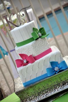 Colorful Wedding Cake - Designer Cakes by April