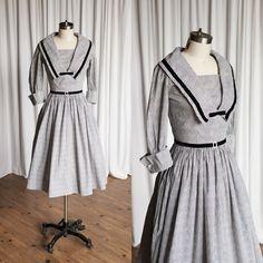 Scherzo dress vintage 50s dress black / white by TwoOldBeans