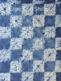 Indigo dyed Shibori Fabric by CapeCodShibori on Etsy