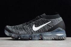 02c35eac6693f Women Men Nike Air VaporMax Flyknit 3.0 Black White Shoes AJ6910-001