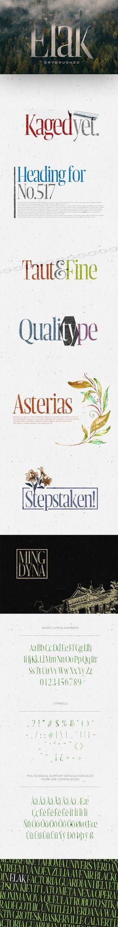 Elak Typeface - Miscellaneous Sans-Serif