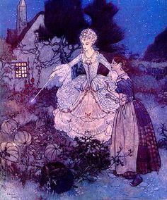Edmund Dulac-Cinderella Godmother
