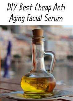 Stop spending lots of money on anti-aging beauty products! FInd out how to prepare the best and cheat anti-aging facial serum at home! Anti Aging Facial, Facial Serum, Eye Serum, Facial Cleanser, Beauty Care, Diy Beauty, Beauty Tips, Beauty Products, Beauty Blogs