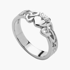 10k White Gold Ladies Trinity Knot Claddagh Ring 7.6mm... meaning of ring as well! I think this one is my favorite out of all the ones I found so far :D