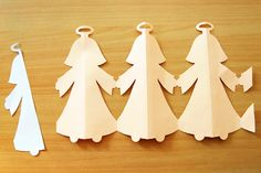 Paper Angel Chain - what a fun craft, and coloring the angels is going to be awesome! Time for glue and glitter. Paper Doll Chain, Paper Chains, Paper Dolls, Christmas Paper, Christmas Love, Christmas Angels, Christmas Ornaments, Fun Crafts For Kids, Christmas Crafts For Kids