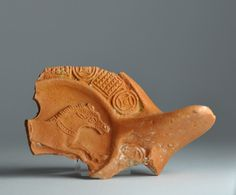 North African red slip oil lamp fragment with animal 7