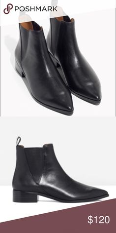 And Other Stories leather Chelsea boots Leather tab to easily pull up Cushioned leather insole Rubber coated man-made outsole Heel height: 3.5 cm                                          Only worn twice - excellent shape.                   Run slightly small (6.5-7) & Other Stories Shoes Ankle Boots & Booties