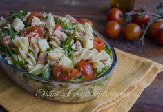 ricetta pasta fredda al tonno rucola pomodorini e formaggio ricetta insalata estiva gustosa