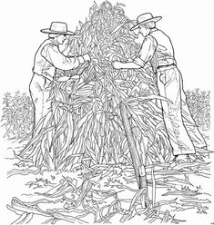 Coloring Page On The Farm Kids N Fun