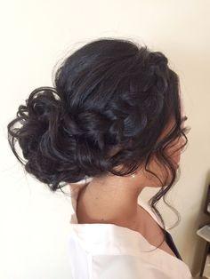 Homecoming Hairstyles Hair by Bridal Hair.Homecoming Hairstyles Hair by Bridal Hair Chignon Hair, Prom Hair Updo, Bridal Hair Updo, Makeup Hairstyle, Hair Makeup, Quince Hairstyles, Bride Hairstyles, Cool Hairstyles, Sweet 16 Hairstyles