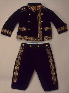 Suit worn by Tsarevich Alexei Romanov 1909