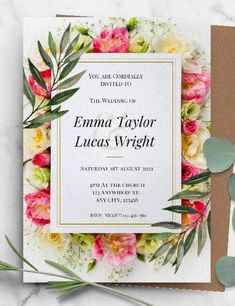 If you're looking for a free customizable wedding invitation template then you're in the right place. We have over 75 incredible and beautiful free wedding invite templates for you to choose from. Easy to use and cost effective. #freeprintableweddinginvitations #personalizedweddinginvitations #freeweddingprintables #customizableweddinginvitations Wedding Invitation Maker, Framed Wedding Invitations, Botanical Wedding Invitations, Wedding Invitation Templates, Invite, Free Wedding, Diy Wedding, Wedding Ideas, Easy