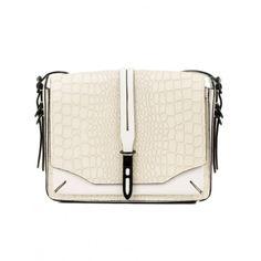 White Croc Enfield Shoulder Bag  $895.00   By Rag & Bone