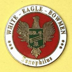 White #eagle bowmen southport merseyside - gb - #enamelled #archery pin badge,  View more on the LINK: http://www.zeppy.io/product/gb/2/371617287247/