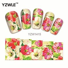 [Visit to Buy] YZWLE Nail Style Watermark Nail Art sticker 3D Design Cute Green Feather, Water Transferrt Stic(YZW1415) #Advertisement