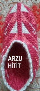 Arzunun Patikleri: 2 Şişle Muhteşem Kilim Desenli Patiğim ve Açıklaması Knitting Patterns Free, Free Knitting, Free Pattern, Tunisian Crochet, Slipper Socks, Drops Design, Knitting Socks, Your Shoes, Diy And Crafts