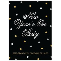 New Year's Eve Confetti Invite   2014 Holiday Collection #InkCards