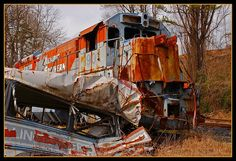 Train Wreck from The Fugitive. Great Smoky Mountain Railroad, Dillsboro.