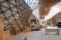 Interior space of the Downland Gridshell