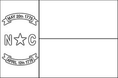 North Carolina Flag Coloring Page   Purple Kitty, all states and territories