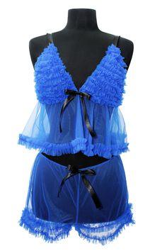 #Vita Can Can #Lingerie 2013 Collection  www.alejandravitatienda.com  bridal . lingerie  novias . lencería  Vita #Lenceria Can Can Colección 2013 #ruffles #blue