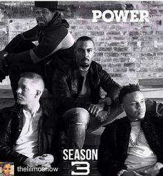 #TeamGhost @Regrann from @thelilmoshow -  We talking TEAMs!!! #power season 3…