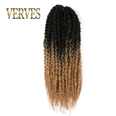 Curly Braid Hair Extension Afro Kinky Twist,one piece 20'' 100g/pcs VERVES Synthetic Crochet Hair high temperature fiber //Price: $11.30 & FREE Shipping //     #hairextension #style #beauty #woman #love