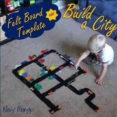 NO SEW Build-a-City Set for Flannel or Felt Boards - DIY Template