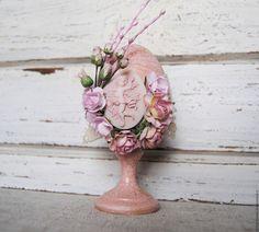 Купить Пасхальное яйцо Розовое с золотом - розовый, Пасха, пасхальный сувенир, пасхальный подарок