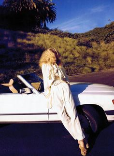 #ToniGarrn - #MercedesBenz SL by #CamillaAkrans for #HarpersBazaar US magazine April 2011