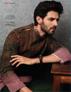 Bollywood actor Kartik Aaryan embraces military-inspired looks as he stars in a new photo shoot. Aaryan links up with photographer Taras Taraporvala for the… Indian Celebrities, Bollywood Celebrities, Pyaar Ka Punchnama, Entertainer Of The Year, Ensemble Cast, 22 November, Sr K, Celebrity Biographies, Hits Movie