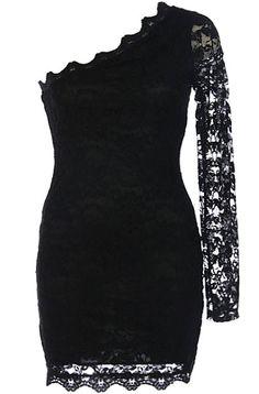 Jagged Lace Dress
