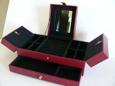 Leather Jewelry Box by Saltofmotherearth on Etsy