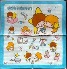 【1976】Handkerchief ★Little Twin Stars★