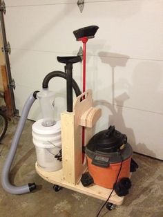 Mobile cleanup unit! dust collector cart for shop vac and cyclone